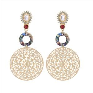 Jewelry - Multi-Color Resin Ring Metal Clip-On Earring